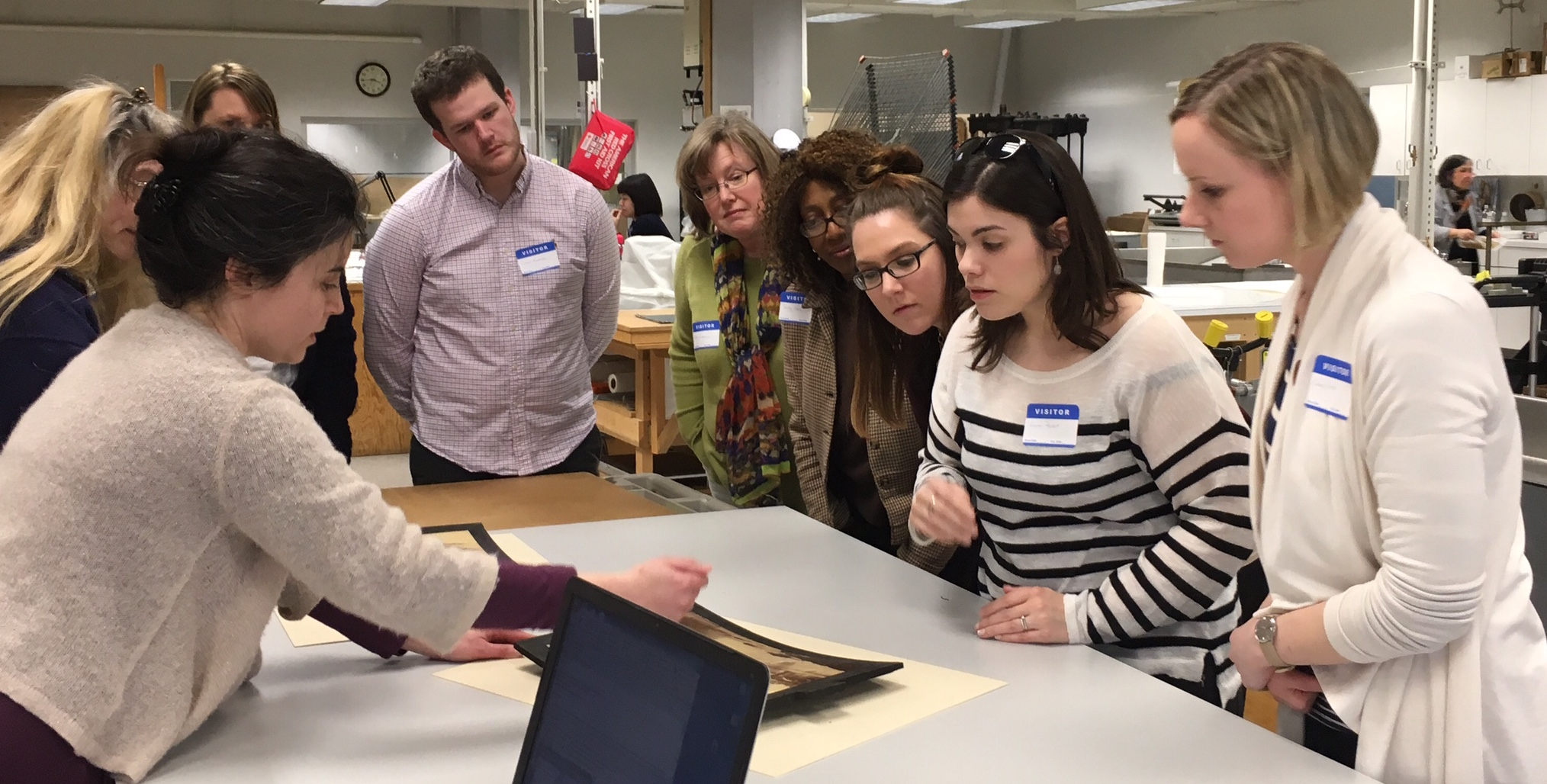 archives public history at umass boston a collaborative space history 627 field trip to nedcc